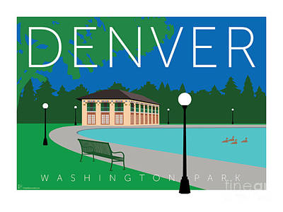 Digital Art - Denver Washington Park by Sam Brennan