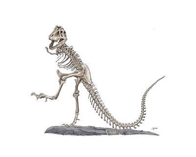 Denvers Dancing T Rex Art Print