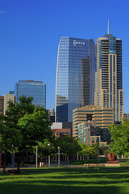 Denver Skyline Photograph - Denver's Newest Skyscraper 1144 Fifteenth Street by Bridget Calip