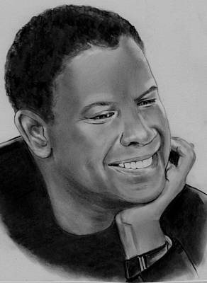 Drawing - Denzel by Barb Baker
