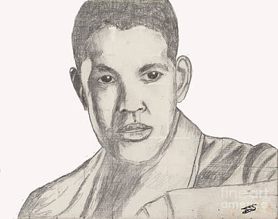 Drawing - Denzel Washington by David Jackson