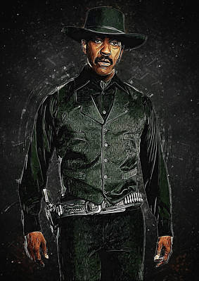 Communion Digital Art - Denzel Washington by Semih Yurdabak