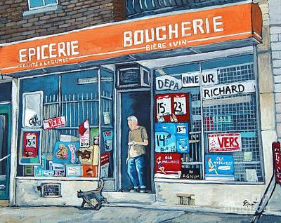 Painting - Depanneur Richard by Reb Frost