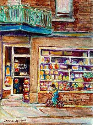 Kik Cola Painting - Depanneur St.viateur by Carole Spandau