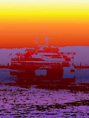 Photograph - Departing Ferry 2 by Tim Allen