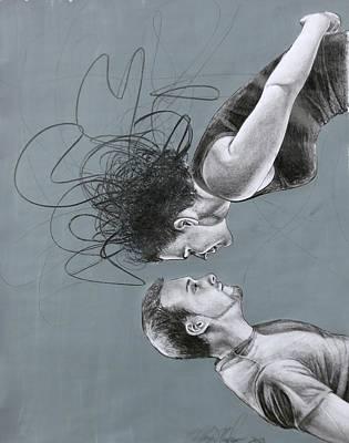 Drawing - Departing Kiss by Mays Mayhew