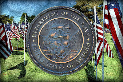 Mixed Media - Department Of The Navy - United States by Glenn McCarthy Art and Photography