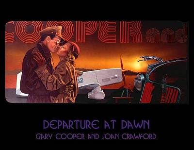 Joan Crawford Painting - Departure At Dawn by George Torjussen