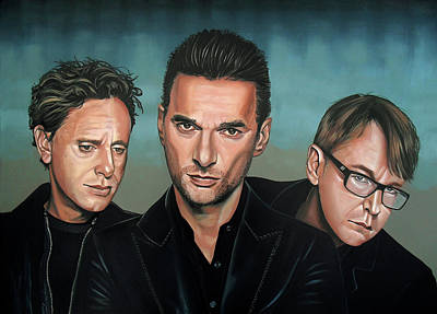 Playing Painting - Depeche Mode Painting by Paul Meijering