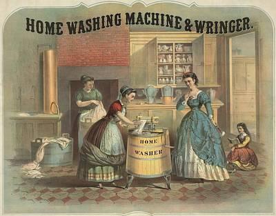 Depiction Of A Laundress Using Art Print
