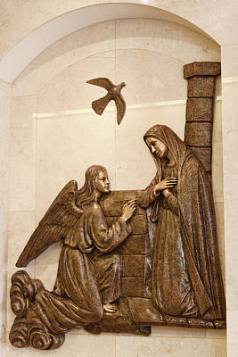 Photograph - Depiction Of The Annunciation Of Archangel Gabriel To Mary With  by Reimar Gaertner