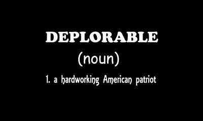 Digital Art - Deplorable - White Lettering by Ericamaxine Price