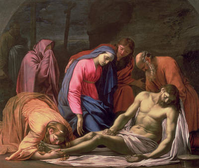 Deposition Art Print by Eustache Le Sueur