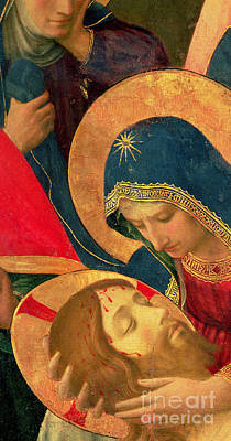 Mary And Jesus Painting - Deposition From The Cross by Fra Angelico
