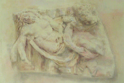 Drawing - Deposition Of Christ I by Paez  ANTONIO