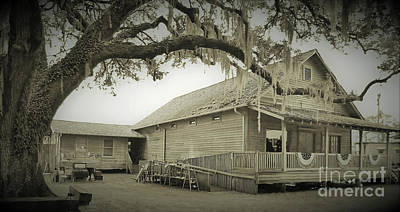 Photograph - Depot And Governors Inn Sepia by D Hackett