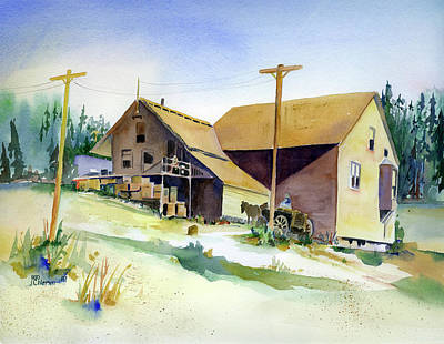 Painting - Depot Hill, Dutch Flat,1910 by Joan Chlarson