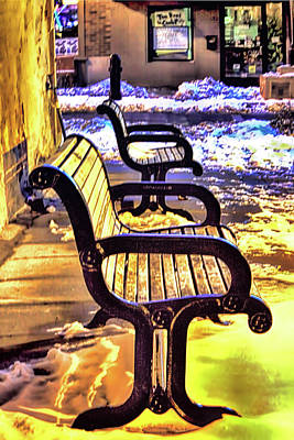 Photograph - Depot Town Winter  by Pat Cook