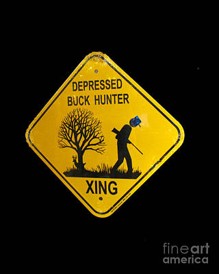 Photograph - Depressed Buck Hunter by Donna Brown