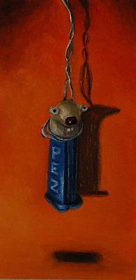 Pez Dispenser Painting - Depressed Pez by Leah Saulnier The Painting Maniac