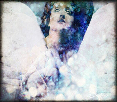 Digital Art - Depression Angel by Delight Worthyn