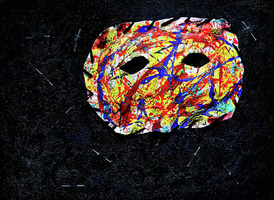 Depression Mixed Media - Depression Series - #2 - The Mask by Chuck Redick