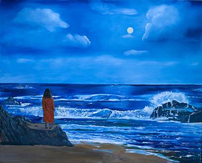 Yogananda Painting - Depthless Sea by Jyotish Novak