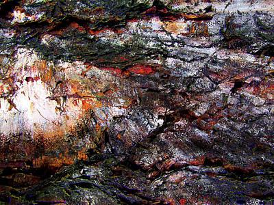 Digital Art - Depths Of Sorrow Abstract Grunge by Georgiana Romanovna