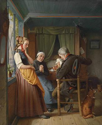 Painting - Der Brief Aus See by Emil Bauch