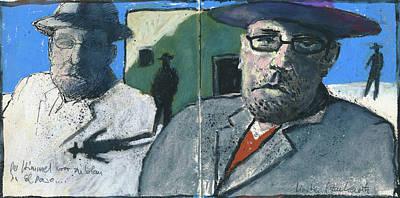 Painting - Der Himmel War Zu Blau In El Paso by Martin Stankewitz