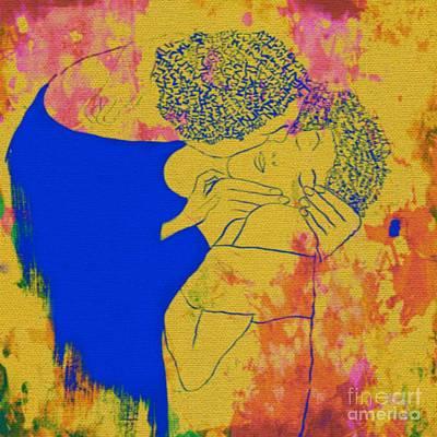 Der Kuss Gustav Klimt Original by Felix Von Altersheim