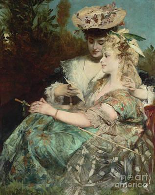 Painting - Der Liebesbrief, 1875 by Hans Makart