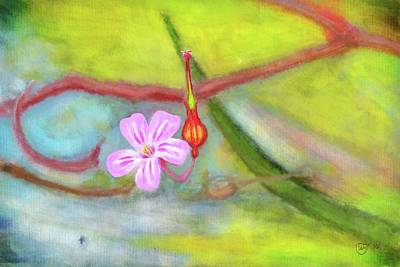 Painting - Der Storchschnabel - The Cranesbill by Mandy Tabatt