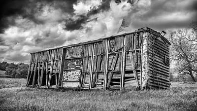 Covered Wagon Photograph - Derailed #2 by Stephen Stookey