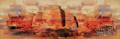 Painting - Derawar Fort Punjab  by Gull G