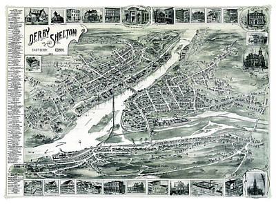 Derby And Shelton Connecticut 1898 Art Print