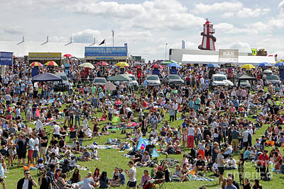 Photograph - Derby Day At Epsom Downs Surrey Uk by Julia Gavin
