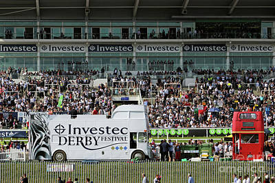 Photograph - Derby Day At Epsom Downs Uk by Julia Gavin
