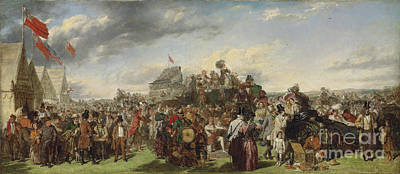1850s Painting - Derby Day by Celestial Images