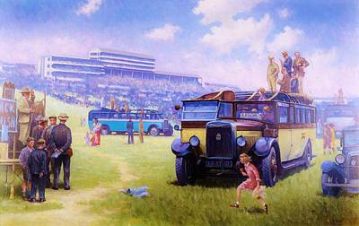 Derby Day Epsom 1929. Art Print