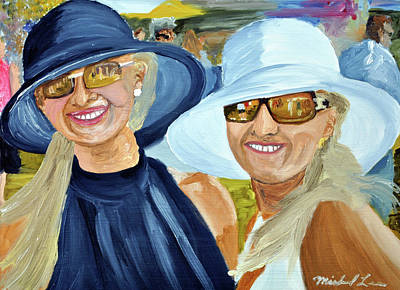 Kentucky Derby Painting - Derby Girls by Michael Lee
