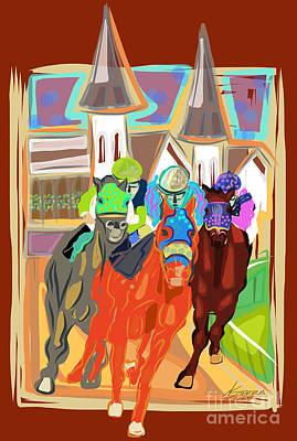 Derby Horses Art Print by Dania Sierra
