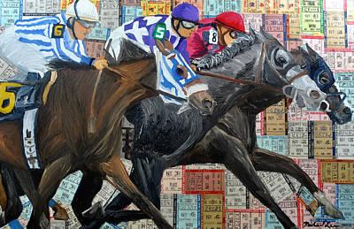 Jockey Mixed Media - Derby Tickets IIi by Michael Lee
