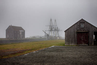 Photograph - Derby Wharf In Fog by Jeff Folger