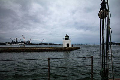 Photograph - Derby Wharf Lighthouse From The Rigging by Jeff Folger