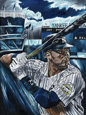 Derek Jeter Art Print by David Courson
