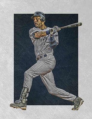 Derek Jeter New York Yankees Art 2 Print by Joe Hamilton