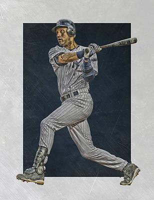 Derek Jeter New York Yankees Art 2 Art Print by Joe Hamilton