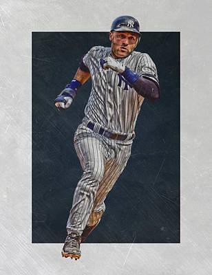 Derek Jeter New York Yankees Art 3 Art Print by Joe Hamilton
