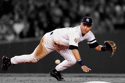 Derek Jeter Wall Art - Photograph - Derek Jeter New York Yankees by Jan Blaustein